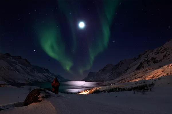 Fotos de Tromso en Laponia Noruega, aurora boreal