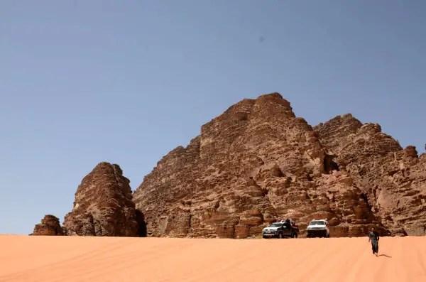 Fotos de Wadi Rum, Jordania - Coches y dunas