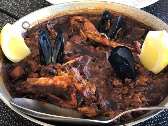 Fotos de la Costa Brava en Girona, arroz Restaurante Can Ton i Sa Malica Blanes