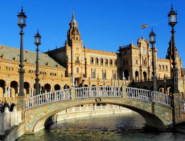 Fotos de los lugares más populares de España, Plaza de España en Sevilla