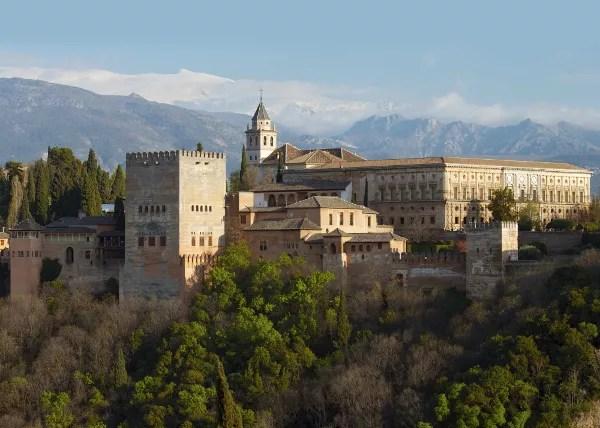 Fotos de los lugares más populares de España, la Alhambra en Granada