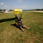 Fotos de saltos en paracaidas en Empuriabrava, aterrizaje