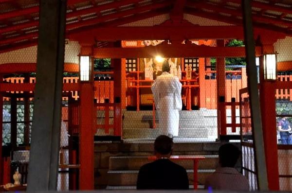Fotos del Fushimi Inari de Kioto, ceremonia