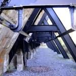 Fotos del Goierri en Euskadi, vigas de hierro en Zerain