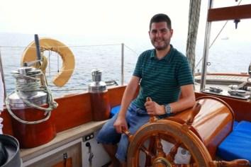 Fotos del Mar Menor en Murcia, Pau en el velero