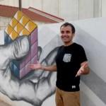 Fotos del Mar Menor en Murcia, Street art El trapecista