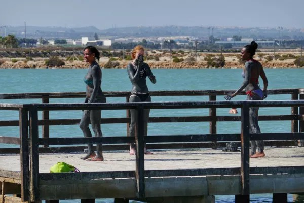 Fotos del Mar Menor en Murcia, lodos en San Pedro del Pinatar