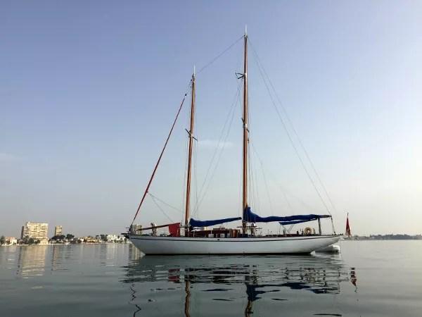 Fotos del Mar Menor en Murcia, velero