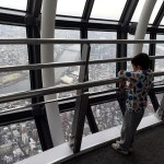 Fotos de Japon con niños, Teo en la Tokyo Skytree