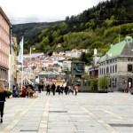 Fotos de Bergen en los Fiordos Noruegos, Torgallmenningen