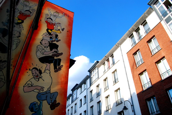 Fotos de Bruselas, Ruta del Cómic