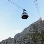 Fotos de Table Mountain en Ciudad del Cabo, teleférico subiendo