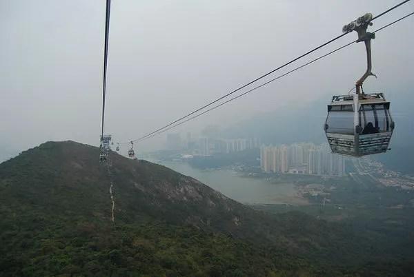 Hong Kong desde el teleférico