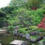 Jardín de entrada al templo Hase-dera de Kamakura