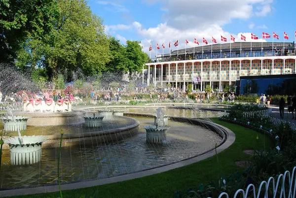 Jardines y fuentes del Tivoli