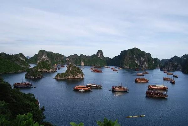 La Bahía de Ha Long desde lo alto