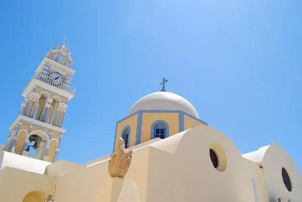 La iglesia católica de Fira