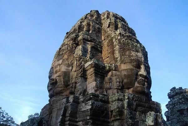 Las caras sonrientes de Bayon en Angkor