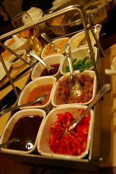 Las salsas del Hot pot