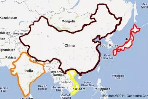 Mapa gastronómico de Asia
