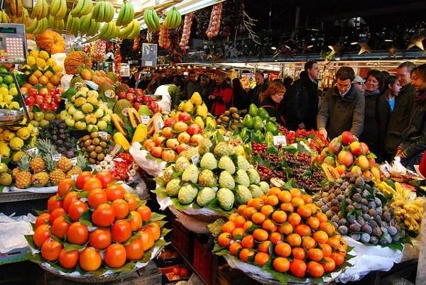 Mercat de La Boqueria en Barcelona