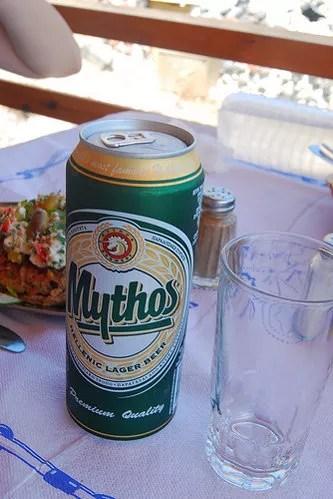Mythos Beer en lata