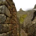 Pasillos de piedra en Machu Picchu