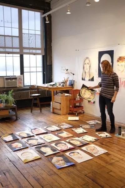 Patricia Iranzo en su estudio