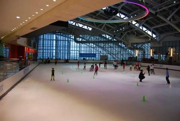 Pista de patinaje sobre hielo en los grandes almacenes Shinsegae de Busan