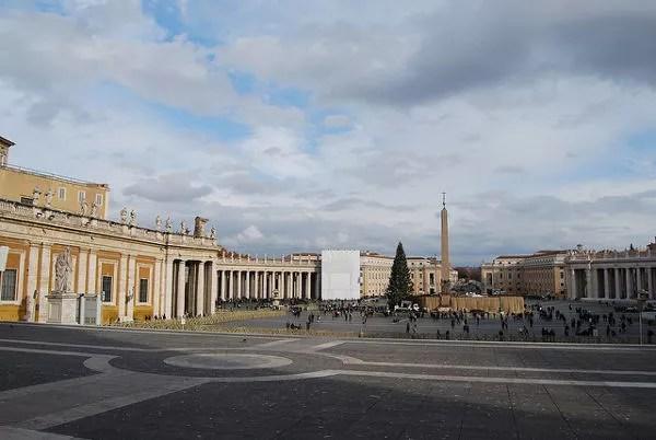 Plaza de San Pedro en el Vaticano en Navidad