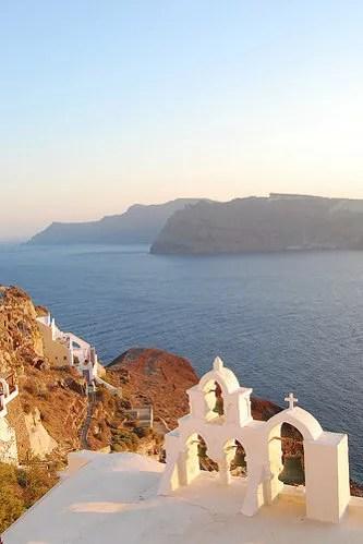 Puesta de sol en Oía en la isla de Santorini