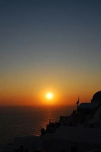 Puesta de sol en Oía