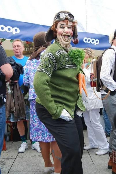 Repartidor de verdura en el Festival Gladmat de Stavanger