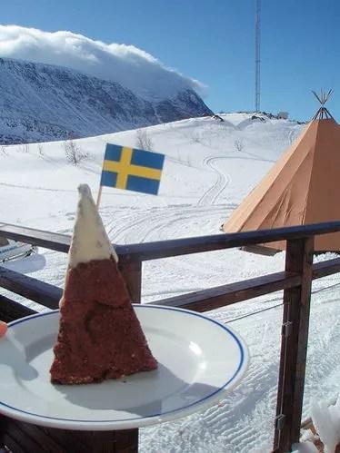 Tarta de chocolate y menta sueca