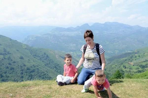 Teo, Vero y Oriol en Cantabria