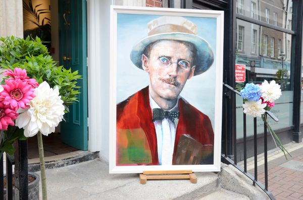 Un retrato de James Joyce en Dublín