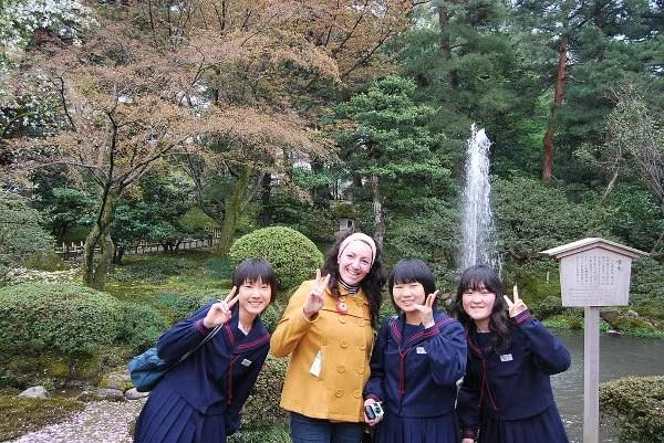 Vero ante la primera fuente de Japón