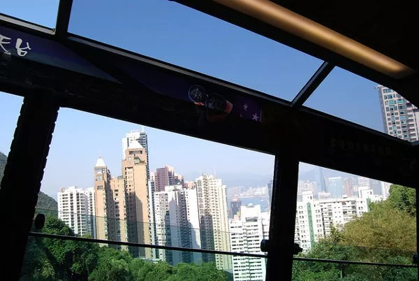 Vistas de Hong Kong desde The Peak Tram