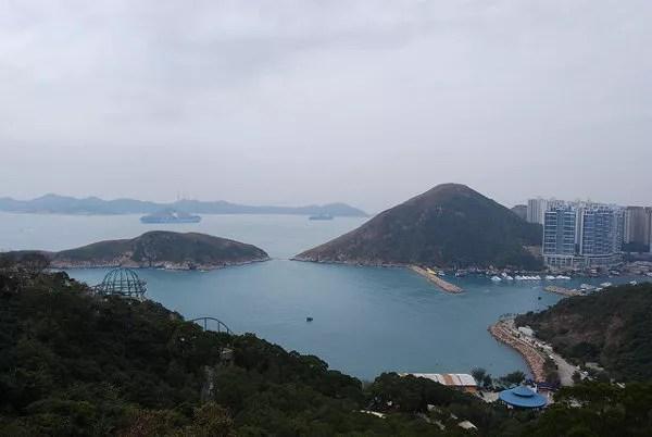 Vistas desde el teleférico del Ocean Park Hong Kong