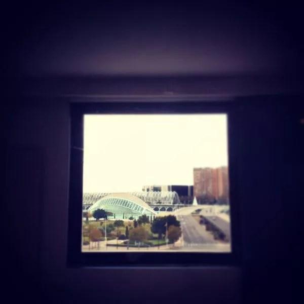 Vistas desde la habitación del Barceló Valencia