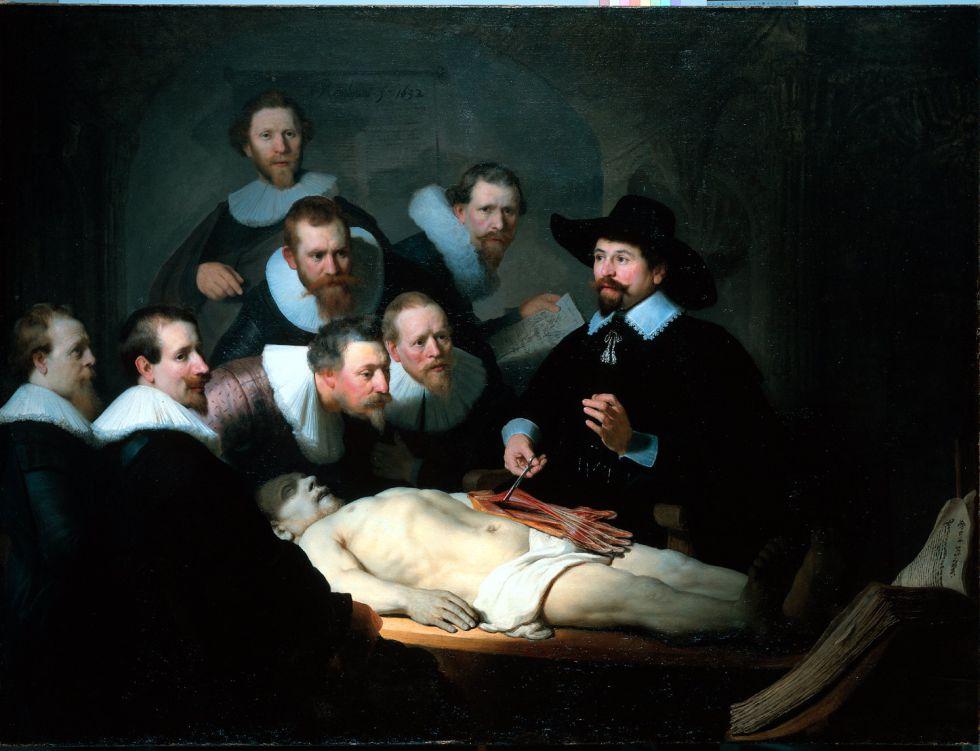 'La lección de anatomía del Dr. Nicolaes Tulp', del pintor holandés Rembrandt.