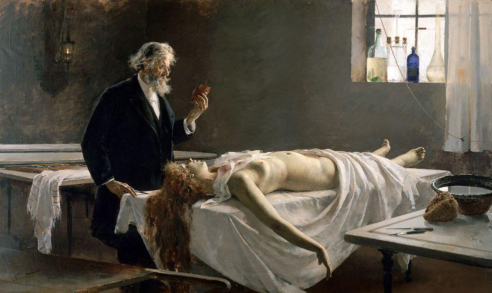 'La autopsia', del pintor valenciano Enrique Simonet