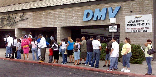 dmv, long line at dmv, annoying task when you move home from abroad