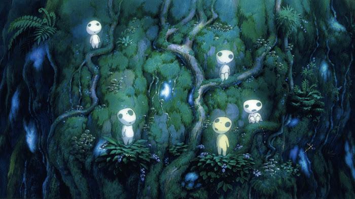 La Princesa Mononoke bosque - el palomitrón