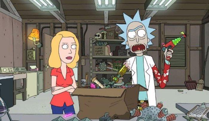 Rick en su laboratorio - El Palomitrón