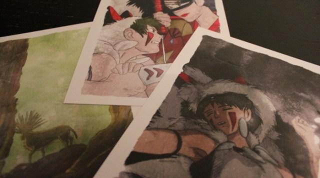 Reseña 'La princesa Mononoke', de Laura Montero Plata postales exclusivas - el palomitron