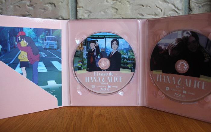 edición coleccionista El caso de Hana y Alice interior - el palomitron