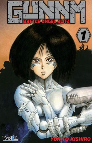 Reseña de GUNNM Battle Angel Alita #1, de Yukito Kishiro portada - el palomitron