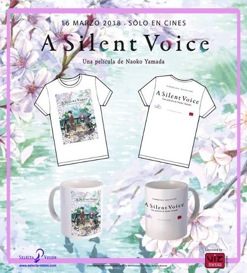 Sorteo de merchandising A Silent Voice Taza + camiseta lote - el palomitron