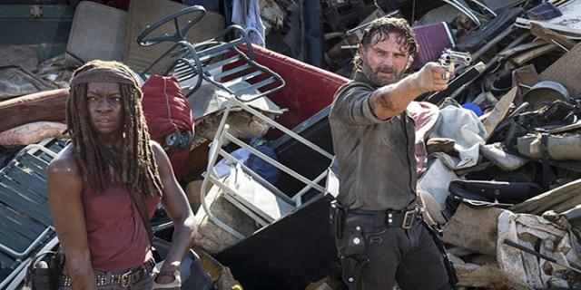 Rick y Michonne The Walking Dead El Palomitrón